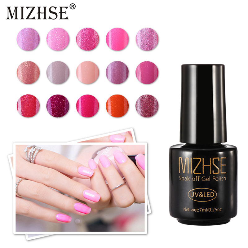 MIZHSE 7ml Gel Vernis Semi Permanant UV Gellak Nails Gel UV Colors 1pcs Gel 3D Nail Design All For Nails Shimmer Gel Varnish Art