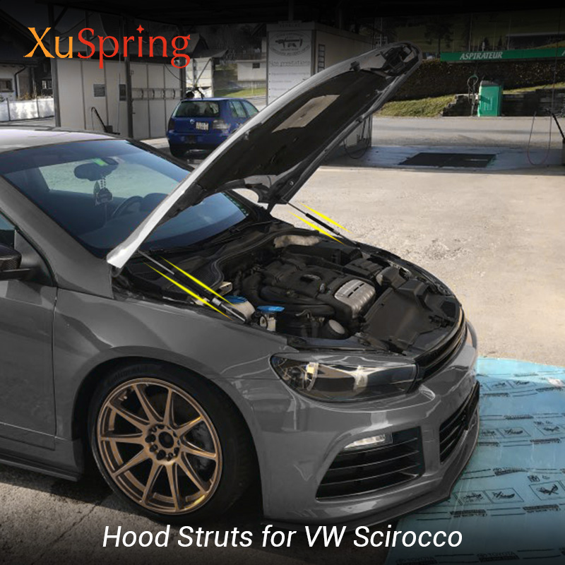 For VW SCIROCCO R 2008 2017 Car styling Refit Bonnet Hood Spring Shock Lift Strut Bars Support Hydraulic Rod No Drilling/Welding-in Strut Bars from Automobiles & Motorcycles