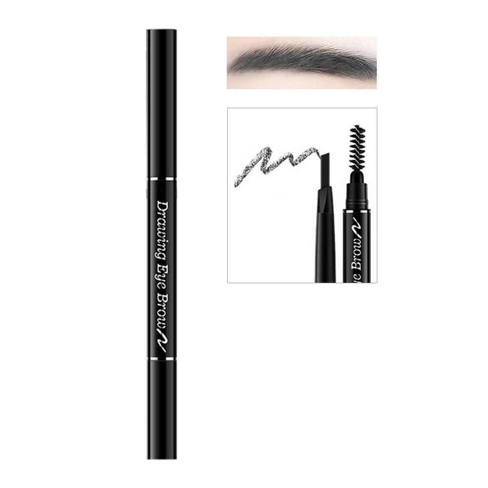Hot Sale Double Ended Eyebrow Pencil Waterproof Rotatable Triangle Eye Brow Pen Automatic Magic Long Lasting Cosmetics Makeup
