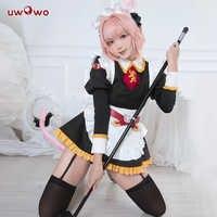 UWOWO Anime destino/Gran Orden Astolfo Cosplay traje FGO Astolfo apócrifos dama vestido de uniforme traje de Halloween para las mujeres