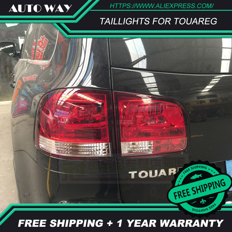 Car Styling tail lights for VW Touareg taillights LED Tail Lamp rear trunk lamp cover drl