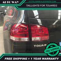 Vw トゥアレグ用カースタイリングテールライトテールライト LED テールランプリアトランクランプカバー drl + 信号 + ブレーキ + リバース