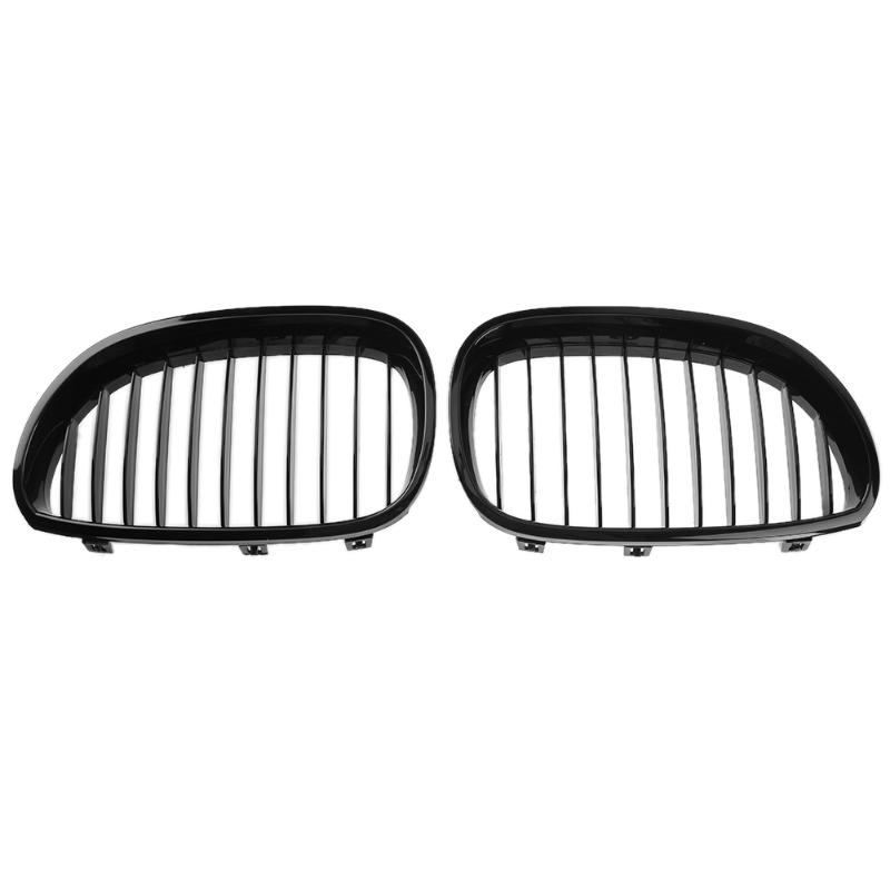 1 Pair Gloss Black Car Racing Grills Automobile Front Kidney Grille Grills for BMW E60 E61 04-09 520d 520i 523li 525li 530li