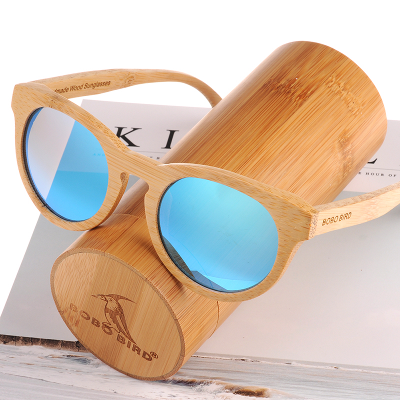 BOBO BIRD Men or Women Sunglasses Polaroid Wooden Bamboo Arms Ladies Sun Glasses Eyewear Summer in Wood box