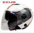 Free shipping for ZEUS vintage motorcycle helmets retro Scooter helmet Double lens open face helmet DOT approved 3/4 capacete