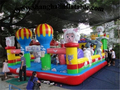 2016 Custom-made  Inflatable Fun City Inflatable Bouncers Inflatable indoor playground Inflatable Trampoline For Sale