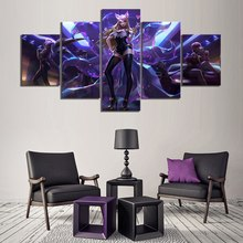 KDA Ahri League of Legends 5 Piece Modern Home Decor HD Print Wall Art Canvas For Living Painting