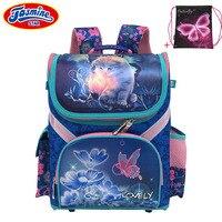 JASMINESTAR Grade 1 3 5 Princess Girl Backpack School New Children Cartoon Cat Kids Backpack Orthopedic