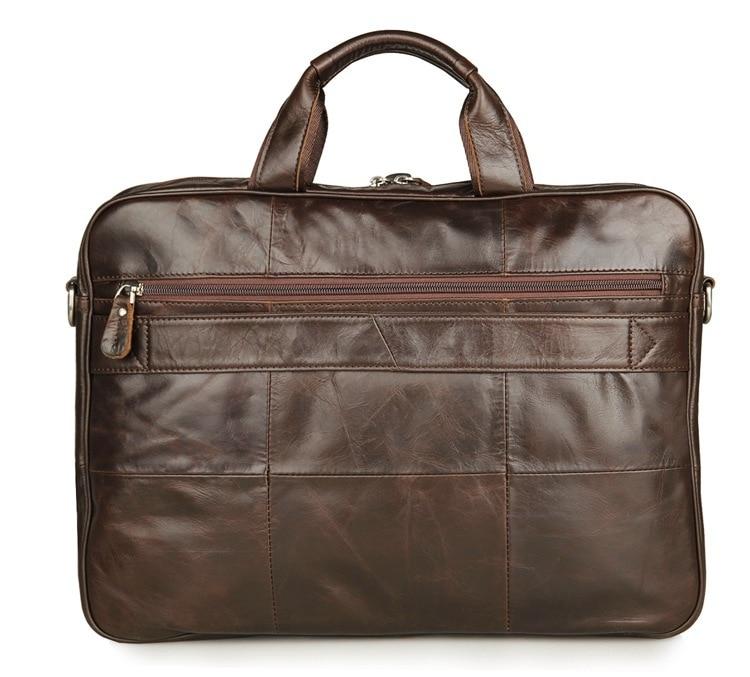 Новая модная мужская сумка мессенджер из натуральной кожи, сумка через плечо из коровьей кожи, повседневная мужская деловая сумка портфель # MD J7334 - 2