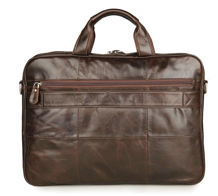 Nueva moda bolsos de mensajero de cuero genuino para hombre, bolsos de cuero de vaca, bolso de cuerpo cruzado para hombre, Casual, bolsa de maletín comercial # MD J7334 - 2