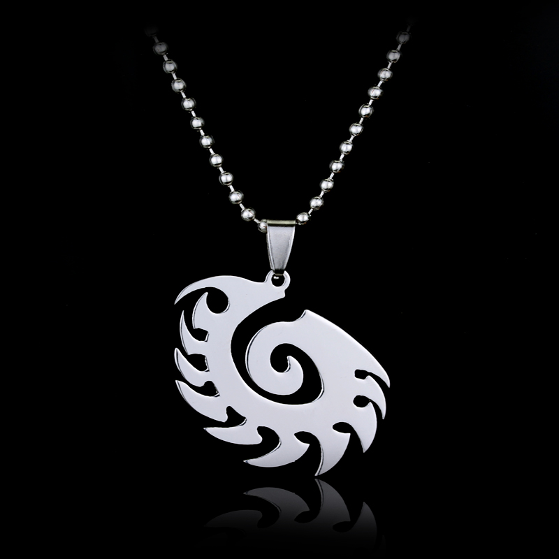 Starcraft 2 Ii Zerg Silver Necklace Pendant Free With Chain Titanium
