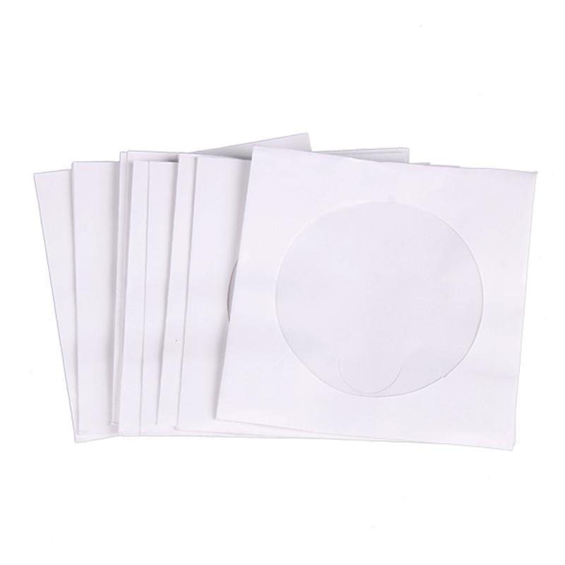 Мини 95 шт Защитная Белая Бумага CD DVD дисковая сумка для хранения конвертов Пылезащитная против царапин CD DVD защитная сумка 8,5 см x 8,5 см