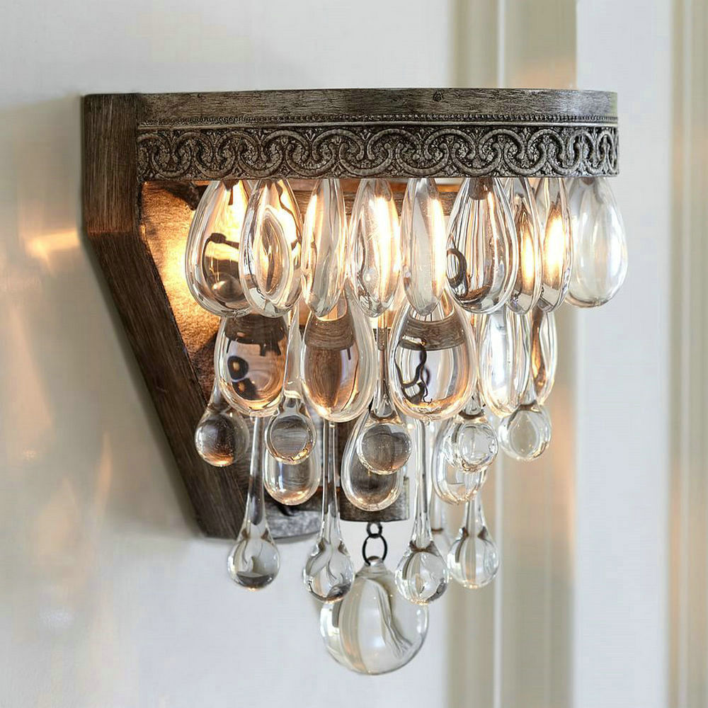 Vintage Crystal Wall Lamp indoor Sconce Led Mirror Bed Wall Lights Christmas Decorations for Home Bedroom Bathroom 1 pcs bathroom crystal light led wall lamp dressing room led mirror lights abajur bedroom home indoor wall sconce free shipping