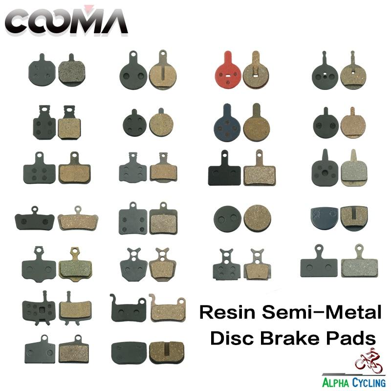 Bicycle Disc Brake pads for Varies Disc Brake 200 Pair RESIN Black BP004