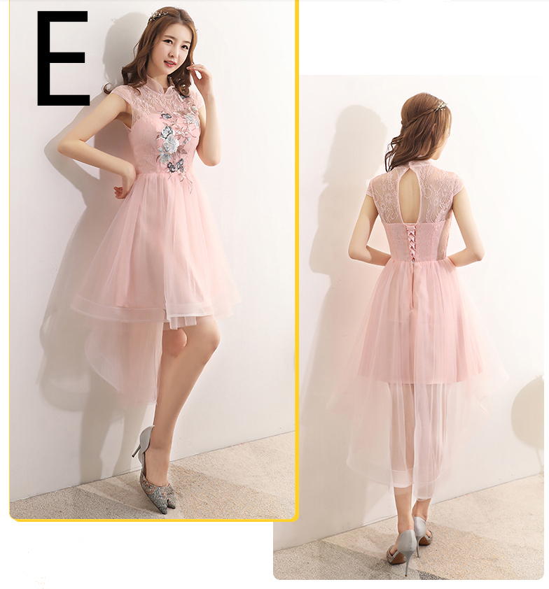 modest long pibk nice hi low party girls bridesmaid dresses short front  long back gowns teens gowns ball dress for wedding-in Bridesmaid Dresses  from ... 754273be37ea
