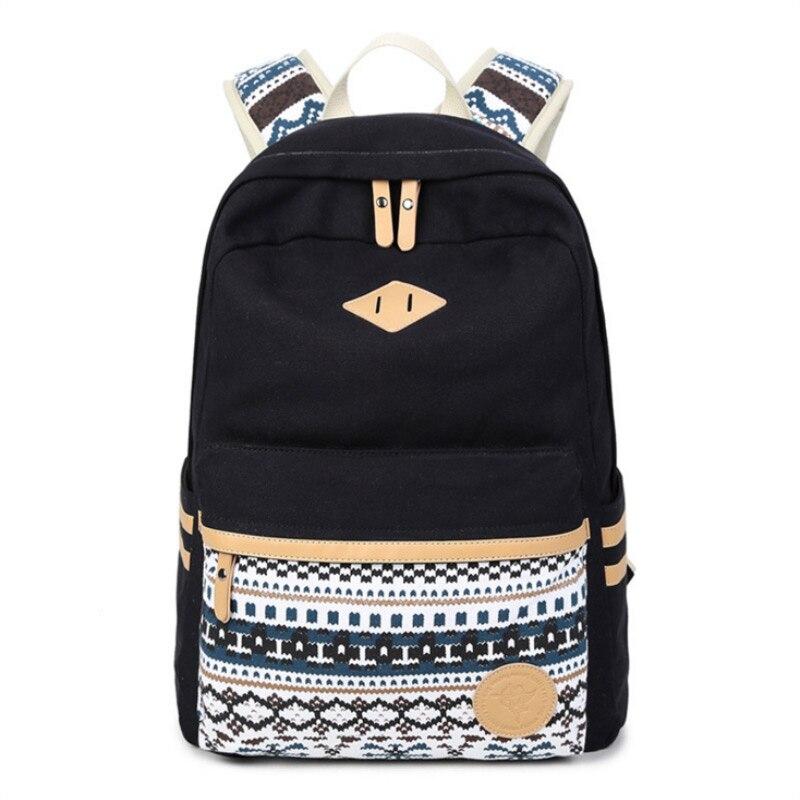 cf0ab59cb2df New Fashion Canvas Backpack Children School Bags USA flag tattoo ...