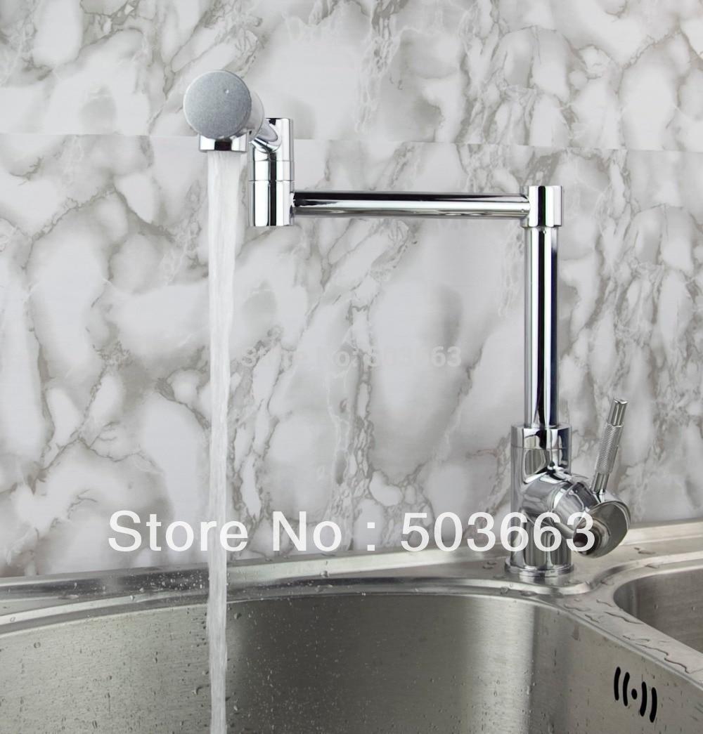 Wholesale New Design Kitchen Basin Sink Swivel Faucet Vanity Faucet Mixer Tap Crane Chrome S 186