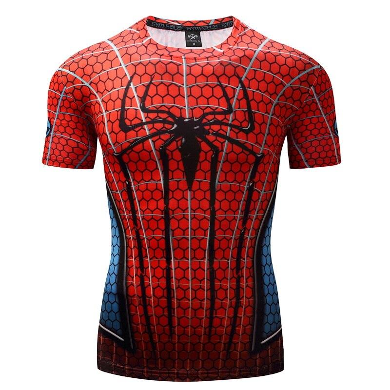 Spiderman 3D Drucken t shirts Männer Compression fitness shirts Superhero Tops kostüm Kurzarm Fitness T-shirts