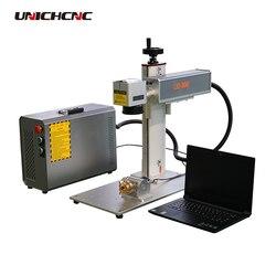 Dobra cena złoto srebro grawerowanie z obrotowym maszyna do znakowania laserowego włókna