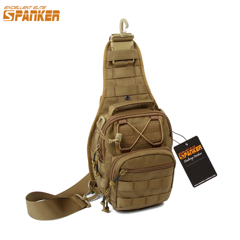 EXCELLENT ELITE SPANKER Men's Tactical MOLLE Single Bags Outdoor Hunting Camping Backpack Military Nylon Hiking Sports Equipment excellent elite spanker outdoor military waterproof travel backpack army tactical hiking nylon bag molle hunting sport backpack