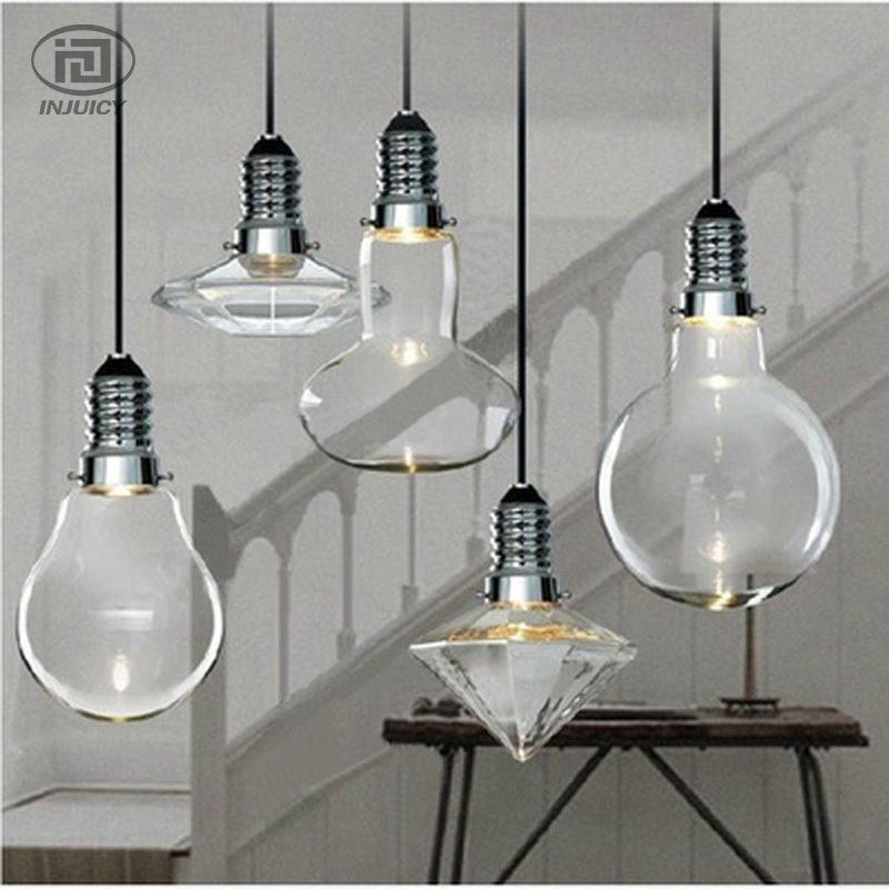 Loft Industrial Diamond-Shape Glass LED Pendant Lamps Retro Restaurant Cafe Edison Store Hall Pendant Hanging Light Droplight nordic vintage loft industrial edison spring ceiling lamp droplight pendant cafe bar hanging light hall coffee shop store