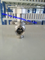 11/2inch Sanitary Flow Control Valve Manual Stainless Steel 304