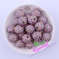Free Shipping 100Pcs/Bag 20MM Pink Gold AB Color Rhinestone Beads Handmade Bead For Chunky Necklace Making # CDWB-517655