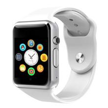 Smart watch a1 mężczyzn smartwatch a1 android kobieta bluetooth smart watch sim zegarek z telefonem wsparcie dla androida reloj inteligente tanie tanio Passometer Uśpienia tracker Wiadomość przypomnienie Przypomnienie połączeń Odpowiedź połączeń Wybierania połączeń