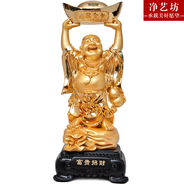 Wealth Maitreya Buddha Lucky Lucky Craft Decoration Housewarming Gift  Opening New Home Office Furnishings Pieces