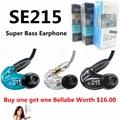 Marca SE215 Earphone & Fones De Ouvido de 3.5mm in ear Fones de Ouvido de Alta Fidelidade de Graves Móvel MP3 Fone de Ouvido/Fone de Ouvido Écouteur Bud claro/Azul Preto