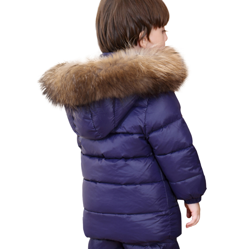 0e92acb74 Children Down Jacket for Boys 2018 Russia Winter Raccoon Fur Collar ...