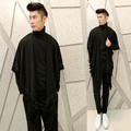 Gothic punk t shirt for men Long sleeve Black color Korean Stylish cool tshirts For Barber Dancer