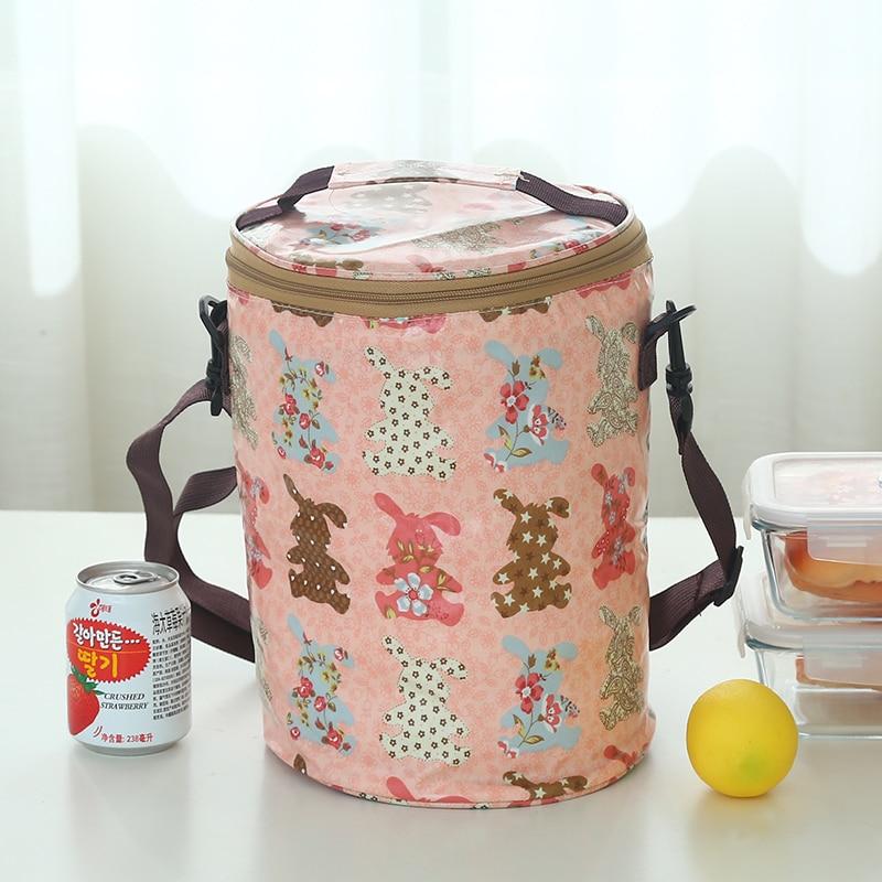 Круглые коробки сумка для ланча Водонепроницаемая Термосумка ремень для барабана portableLarge - Цвет: Серый