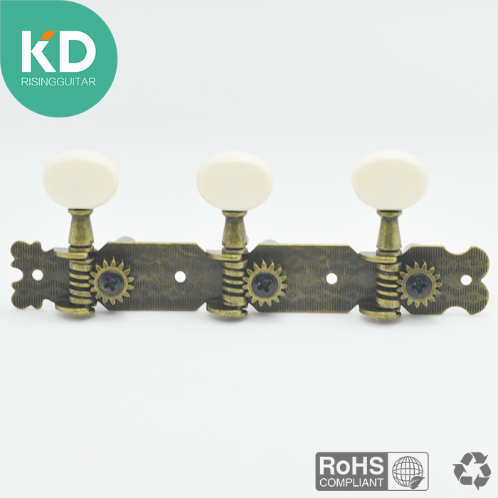 2 PCs per set Antique Bronze Klasik Gitar Tuning Pegs Mesin Kepala Tombol Oval