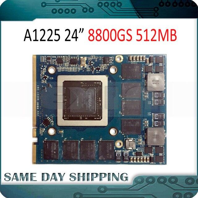 """Utilisé pour NVIDIA GeForce 8800GS 8800 GS carte graphique vidéo 512 mo pour Apple iMac 24 """"A1225 VGA carte 661 4664 2008 an"""
