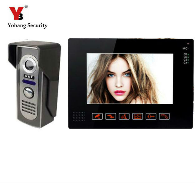 Yobang Security 9 Inch LCD Home Security Video Record Door Phone Intercom System Doorbell Video Monitor For Apartment Villa yobang security freeship 3 5inch monitor wireless video intercom doorbell door phone intercom system intercom door bell phone