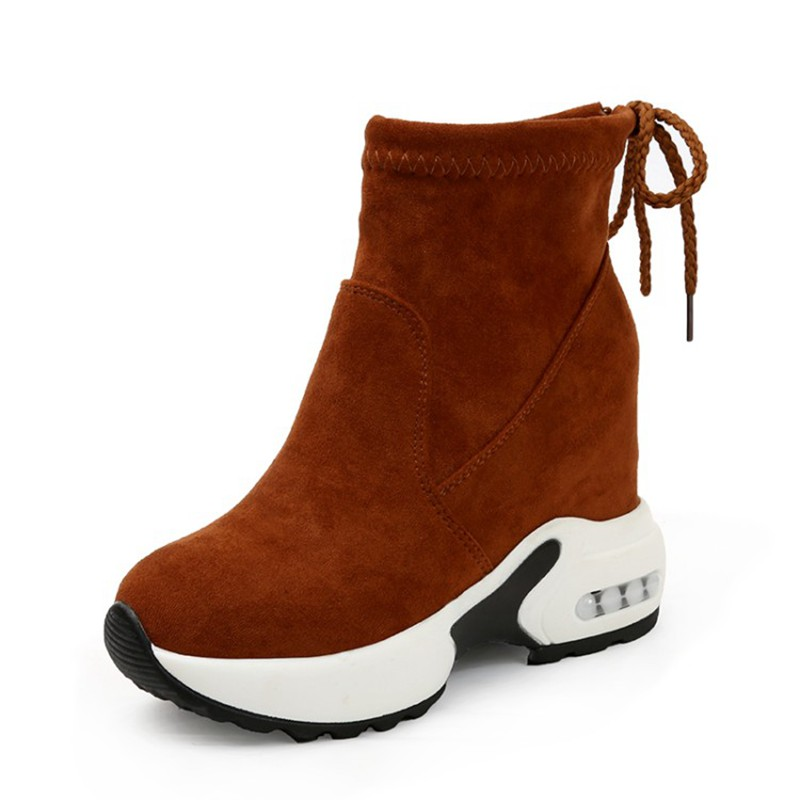 COOTELILI Fashion Increasing Shoes Women High Heels Ankle Boots For Women Autumn Winter Rubber Boots Women Pumps Ladies 35-39 (3)
