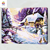 Christmas Snow Cabin Landscape DIY Painting By Numbers Kits Drawing Painting By Numbers Unique Christmas Gift