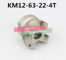 KM12 63 22 4T 45도 숄더 페이스 밀 헤드 CNC 밀링 커터, 밀링 커터 공구, 초경 인서트 SEHT1204