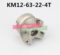 KM12 63 22 4T 45 Grad Schulterfläche Mühle Kopf CNC Fräser  fräser werkzeuge  hartmetalleinsatz SEHT1204-in Fräser aus Werkzeug bei