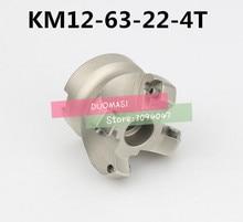 KM12 63 22 4T 45 Graden Schouder Gezicht Freeskop CNC Frees, frees gereedschap, carbide Insert SEHT1204