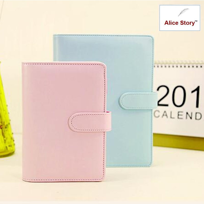 2017 Macaron faux leather spiral notebook office personal diary/week planner/agenda organizer Cute ring stationery binder A6 a5 a6 dokibook notebook macaron fine faux leather spiral notebook diary week agenda organizer planner notepad office stationery