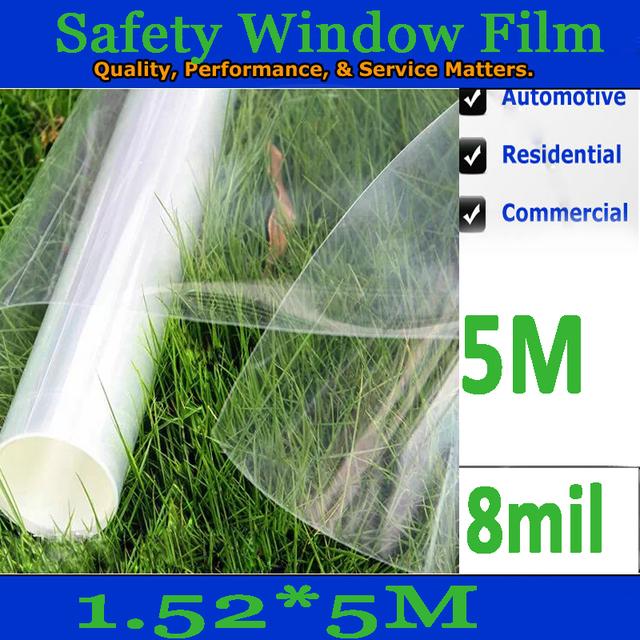 8MIL (200 micras) de espesor coche/edificio de cristal de seguridad/película de la ventana 5 m