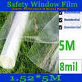 8MIL(200 microns) thickness car/building safety glass/window film 5m
