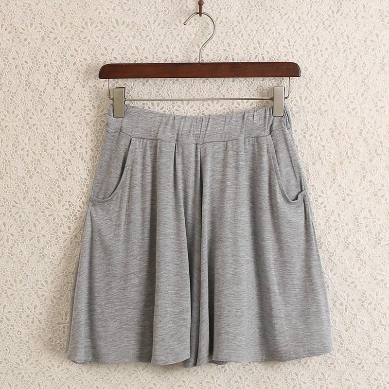 New modal shorts Short Autumn Summer Women loose large size Casual Home Elasticity  Hot Short Wide leg F2