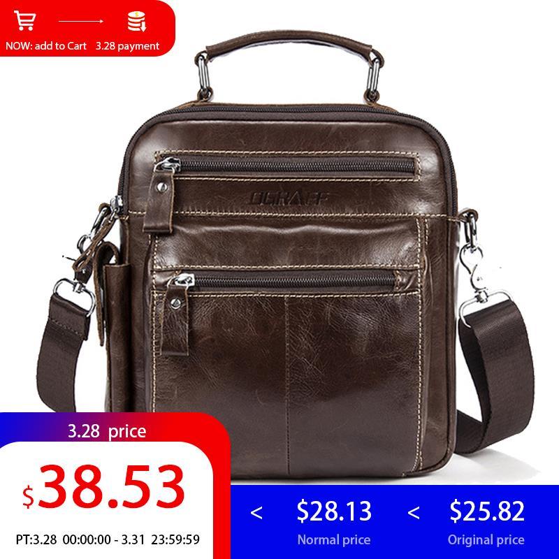 OGRAFF الرجال حقيبة جلدية حقيبة يد الرجال جلد طبيعي كتف رسول حقيبة حقيبة سفر حقيبة كروسبودي مصمم حقائب عالية الجودة