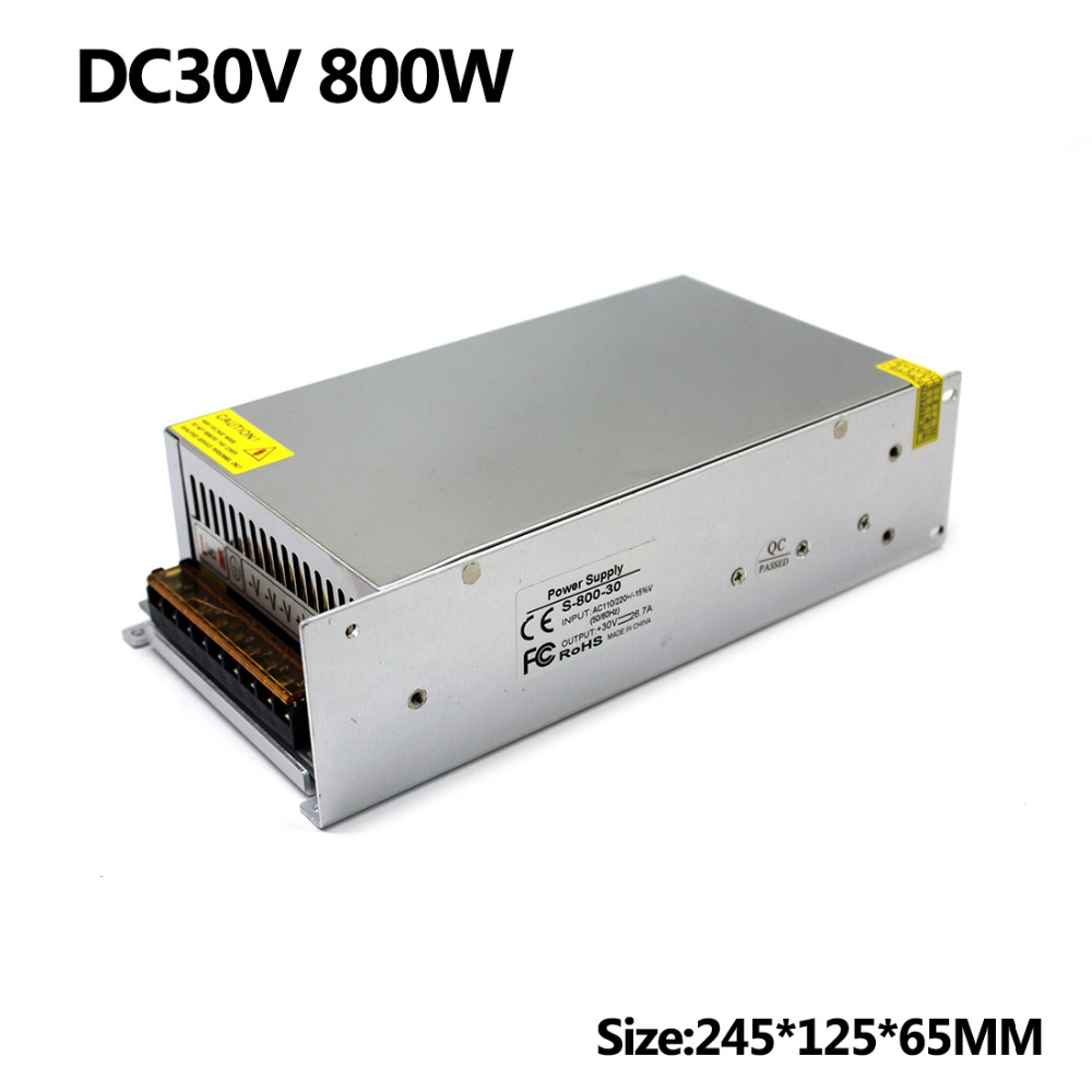Factory outlet AC DC Power Supply DC30V 26 7A 800W AC DC Converter LED Driver Switching