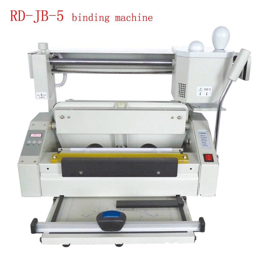 цена на RD-JB-5 Hot melt glue binding machine booklet maker Desktop glue book binding machine glue book binder machine