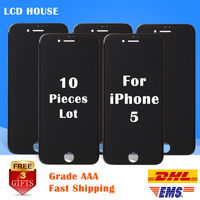 10pcs Lot Display For Apple IPhone 5 5G LCD Screen With Touch Digitizer Full Pantalla Replacement