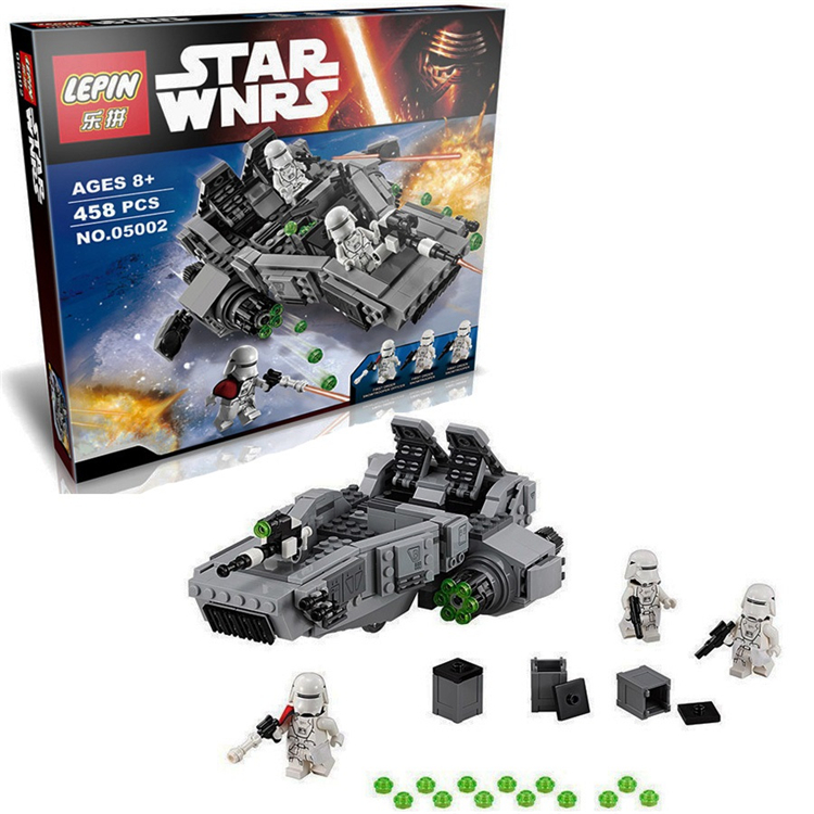 05002 Space Star Wars The Force Awakens First Order Snowspeeder Transporter Building Blocks Brick Toys compatible with lego